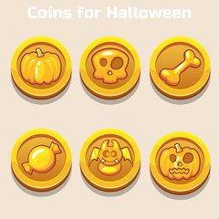 gold coins for Halloween