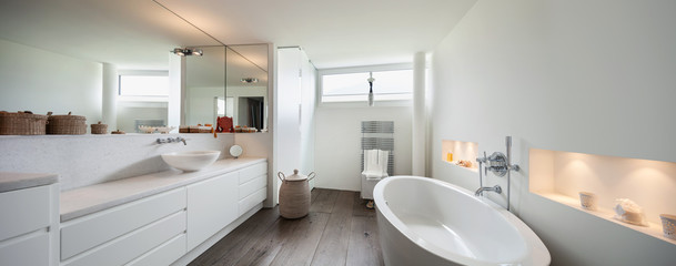 Interior, comfortable bathroom