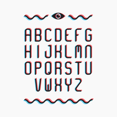 Colorful alphabet, type letters. Vector illustration EPS 10