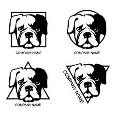 Set of bulldog logo