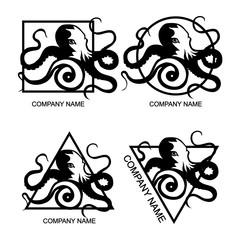 Set of octopus logo