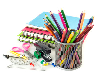 Group of stationery tools