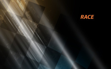 Racing square background, vector illustration abstraction in racing grandprix Wall mural