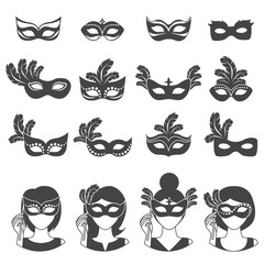 Ball Carnival  Monochrome Icons