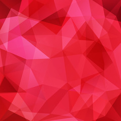 Red background made of triangles. Square composition