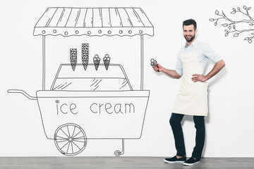 Selling the best ice cream.