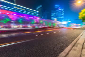 motion blurred urban traffic