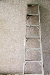 Step ladder on the wall
