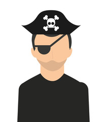 pirate character isolated icon design