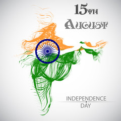 Indian Independence Day vector background.