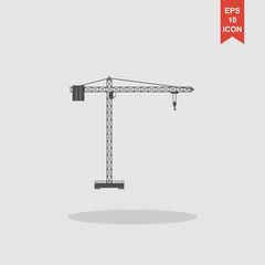 Crane icon. Flat design style