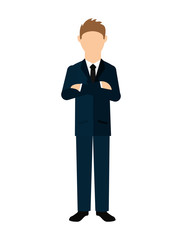 businessman standing  isolated icon design