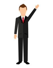businessman  isolated icon design
