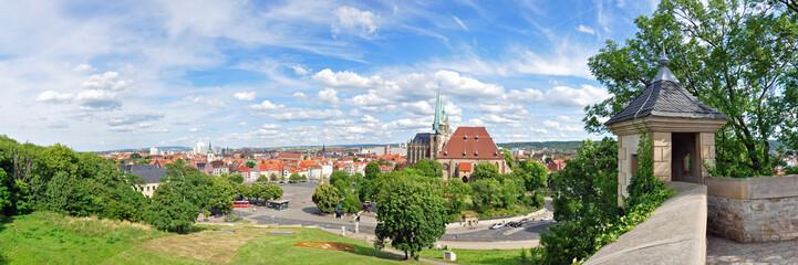 Blick vom Petersberg auf die Altstadt von Erfurt