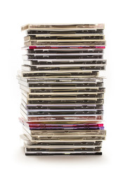 Pile of compact disks