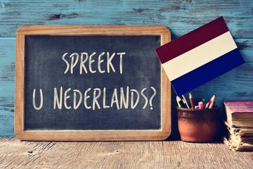 question do you speak Dutch written in Dutch