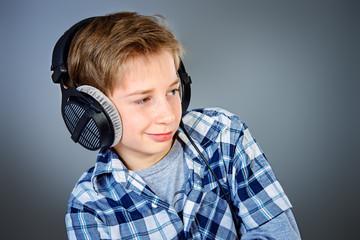 boy in headphones
