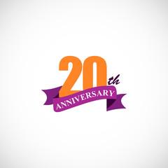 20 anniversary company logo