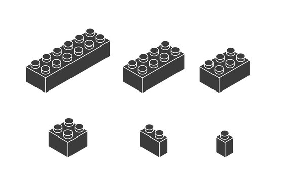 Piece of lego icon. Game design. Vector graphic