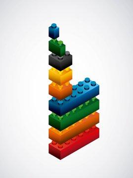 Piece of lego icon. Game design. Vector graphic