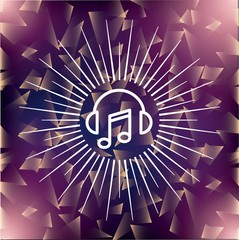 music note icon. Music and Sound design. Vector graphic