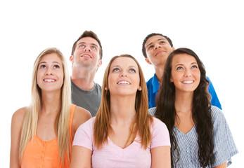 Teens: Group of Teens All Looking Up