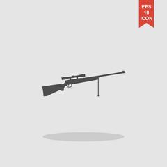 Sniper Rifle icon. Vector concept illustration for design.