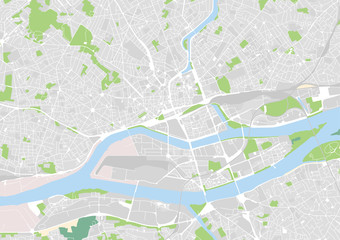 vector city map of Nantes, France Fototapete