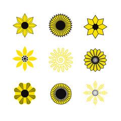 Sunflower Logo Set