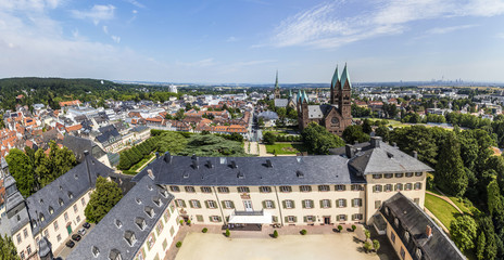 view to Bad Homburg with skyline and view to church of Redeemer
