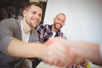 Business business people shaking hands in office