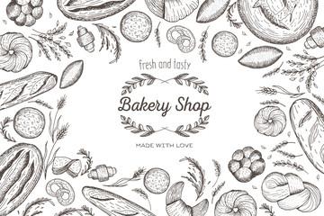 Bread design template. Vector illustration