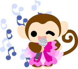 The pretty little monkey which does the figure of the singer