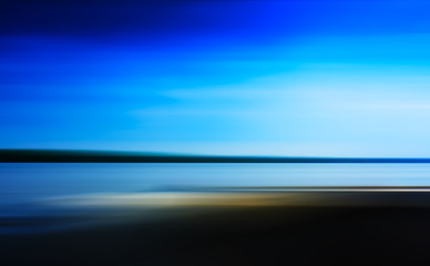 Horizontal vivid landscape ocean in motion abstraction backgroun