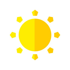 Weather concept represented by sun icon. isolated and flat illustration