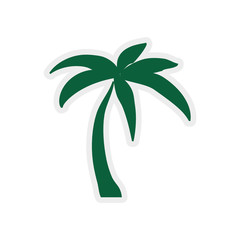 Nature and plant of summer concept represented by palm tree icon. isolated and flat illustration
