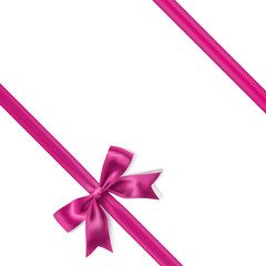 pink bow decoration background. vector