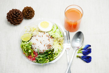 rice salad in Thai southernstyle