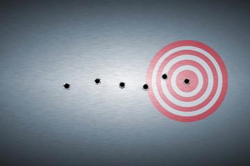 bullet hole on target