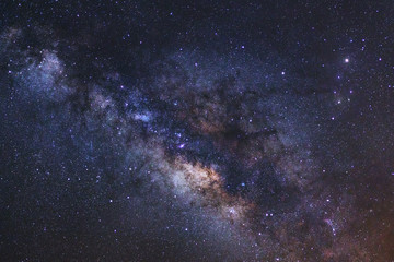 Beautiful milky way galaxy on a night sky,Long exposure photogra