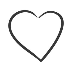 Love concept represented by heart shape icon. isolated and flat illustration
