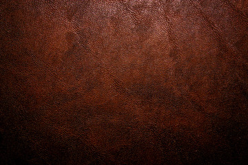 Old vintage dark brown leather background and texture; for horror game or scary Halloween poster Wall mural