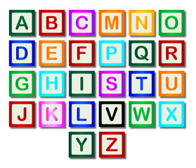 Wooden Block Letters A to Z