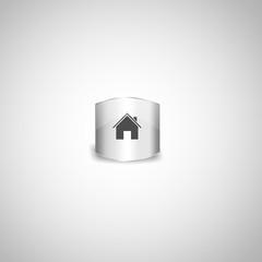 Silver home, main page icon