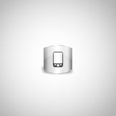Silver ipad, iphone icon