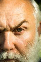 setious bearded man