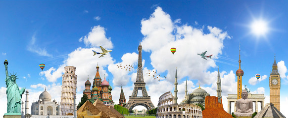 Famous landmarks of the world Wall mural