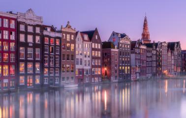 Aluminium Prints Amsterdam Twilight in Amsterdam