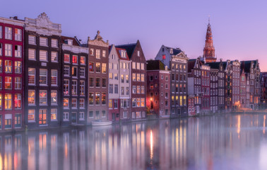 Canvas Prints Amsterdam Twilight in Amsterdam