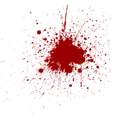 Vector splatter red color background. vector design